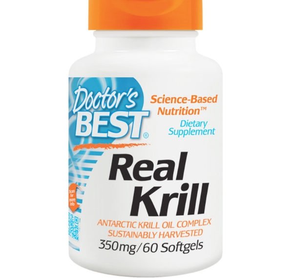 Image of Doctor's Best, Real Krill, 350 mg, 60 capsule Softgel 0753950002241