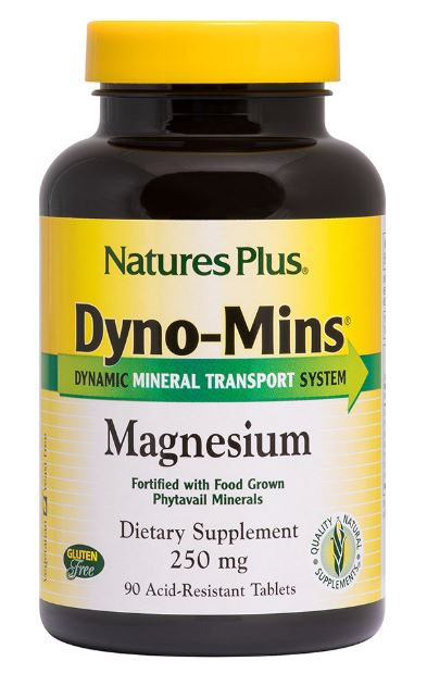 Image of Dyno-Mins Magnesium 250 mg (90 Tablets) - Nature's Plus 0097467366619