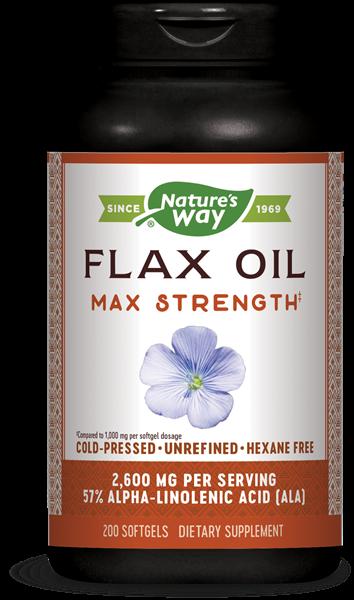 Image of Nature's Way, EFA-gold olio di lino, alta potenza 1300 mg, 200 Softgels 0033674154250