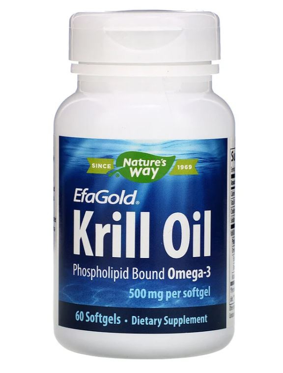 Image of Nature's Way, EfaGold olio di Krill 500 mg, 60 Softgels 0033674154328