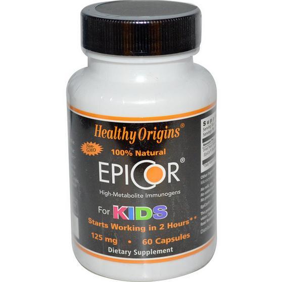 Image of Healthy Origins, EpiCor per bambini 125 mg, 60 capsule 0603573577735