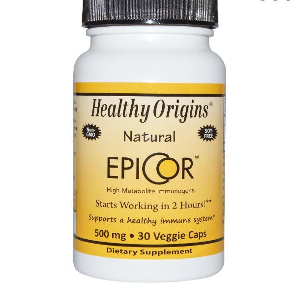Image of Healthy Origins, EpiCor, 500 mg, 30 Capsules 0603573578848