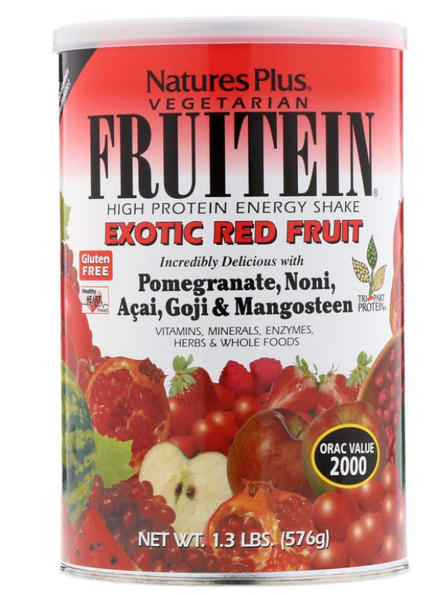 Image of Fruitein - High Protein Energy Shake - Exotic Red Fruit (576 grams) - Nature's Plus 0097467045880