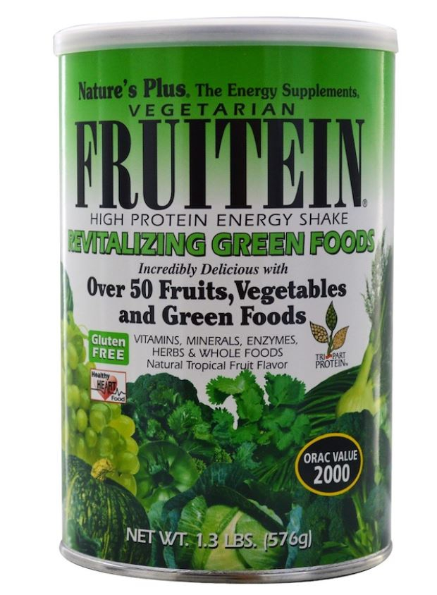 Image of Fruitein - High Protein Energy Shake - Revitalizing Green Foods (576 grams) - Nature's Plus 0097467458635