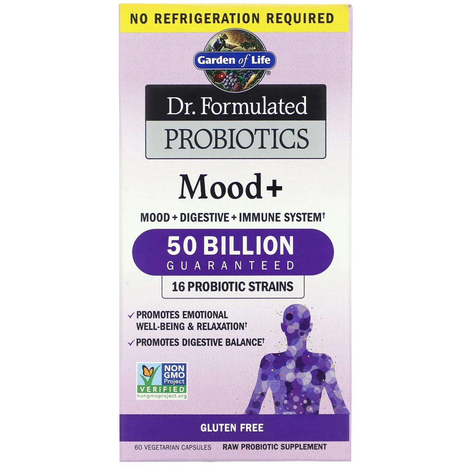 Image of Dr. Formulated Probiotics Mood+ (60 Vegetarian Capsules) - Garden of Life 0658010120043