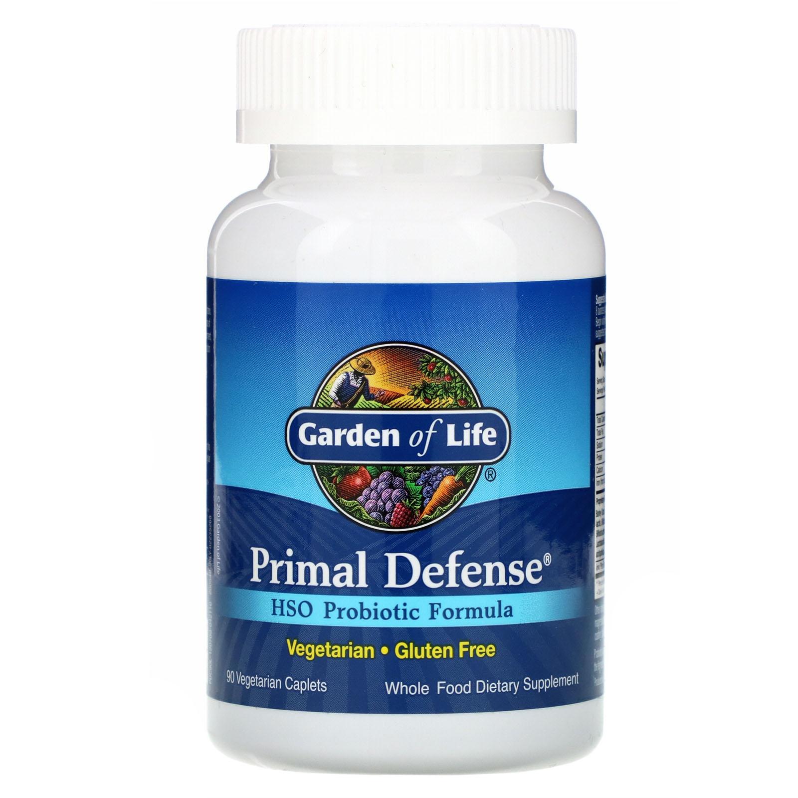 Image of Primal Defense- HSO Probiotic Formula (90 caplet) - Garden of Life 0658010111119