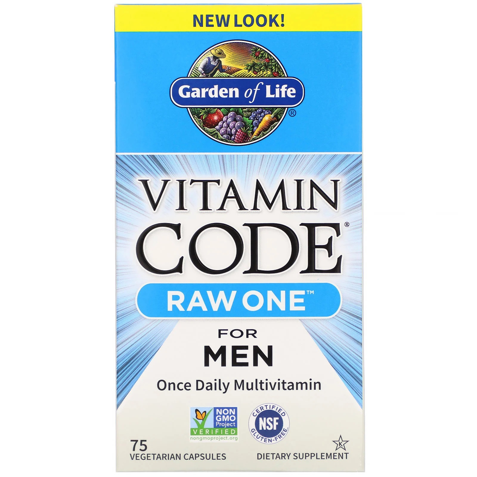 Vitamin Code Raw One Once Daily Raw Multi Vitamin For Men (75 Vegetarian Capsules) Garden of Life