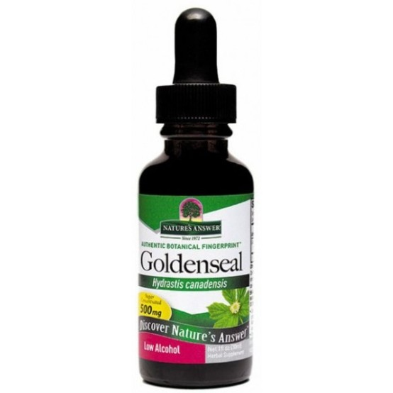 Image of Golden Seal Root - Low Alcohol (30 ml) - Nature's Answer 0083000003288