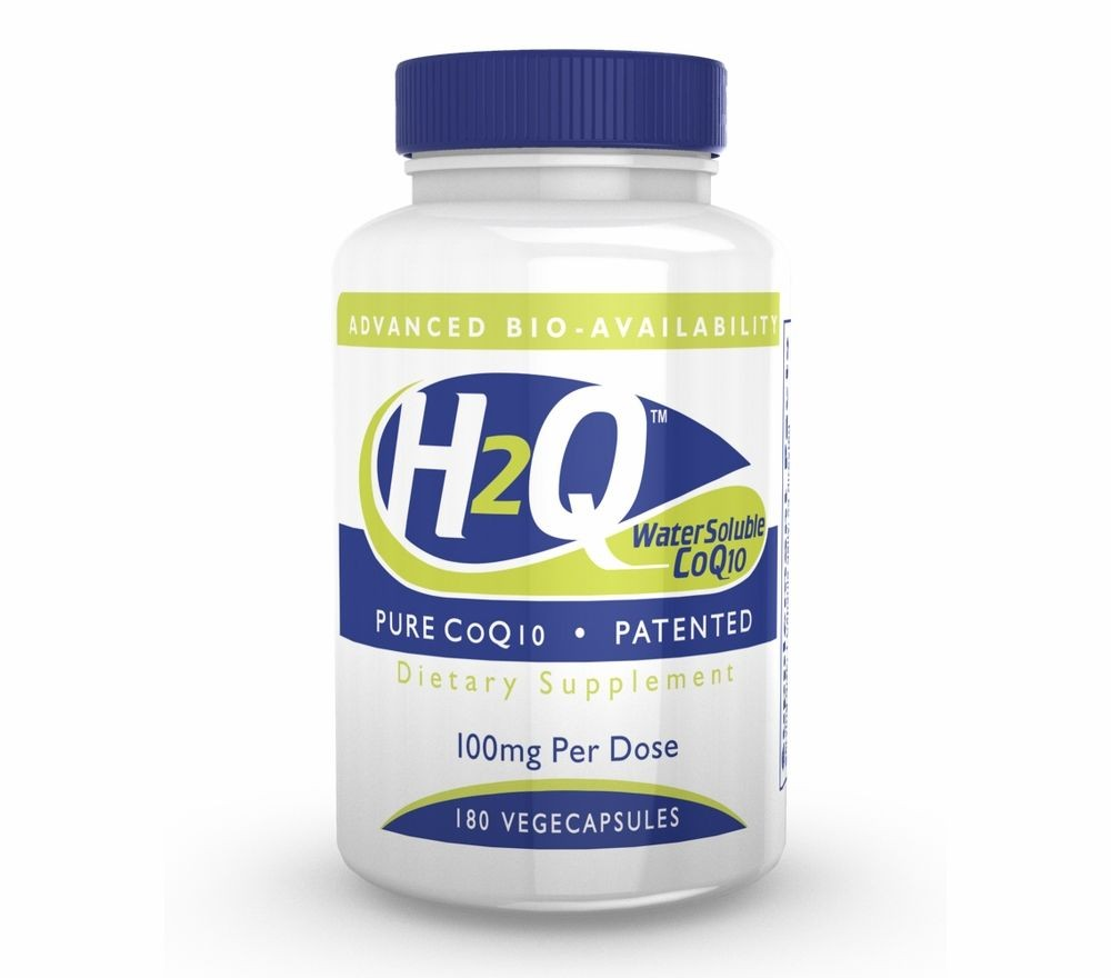 Image of H2Q CoQ-10 (8x Absorption) 100 mg (non-GMO) (180 Vegicaps) - Health Thru Nutrition 0819193020654