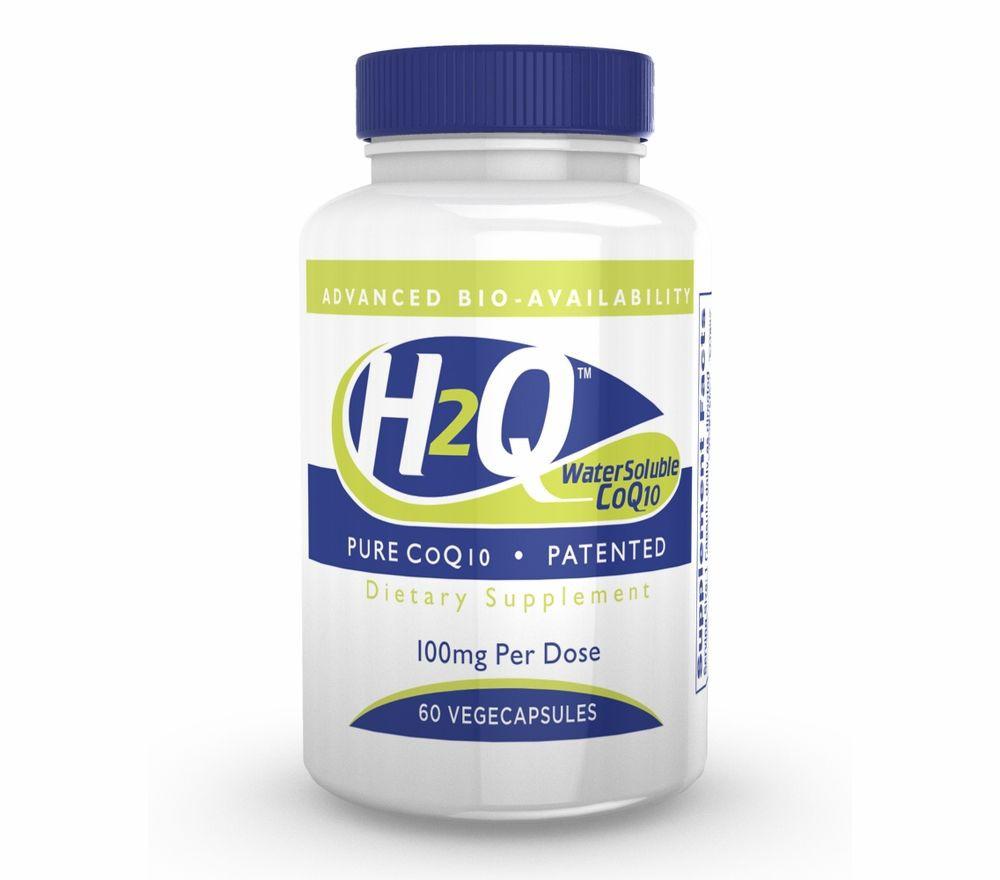 Image of H2Q CoQ-10 (8x Absorption) 100 mg (non-GMO) (60 Vegicaps) - Health Thru Nutrition 0819193020647