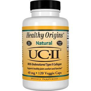 Image of UC-II with Undenatured Type II Collagen 40 mg 120 Veggie Caps Healthy Origins 0603573525033