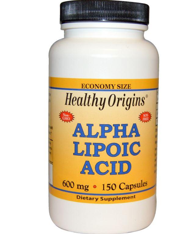 Healthy Origins, acido alfa lipoico 600 mg, 150 capsule