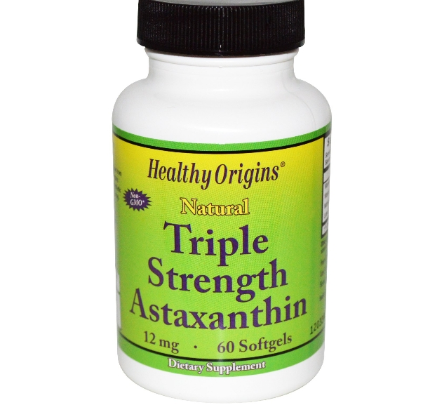 Image of Healthy Origins, Natural Triple Strength Astaxanthin, 12 mg, 60 Softgels 0603573849252