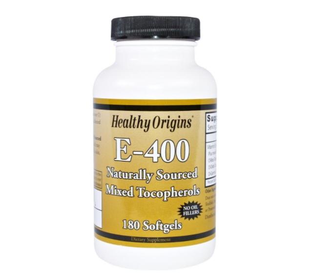Image of Healthy Origins, E-400, 180 Softgel Capsules 0603573151454