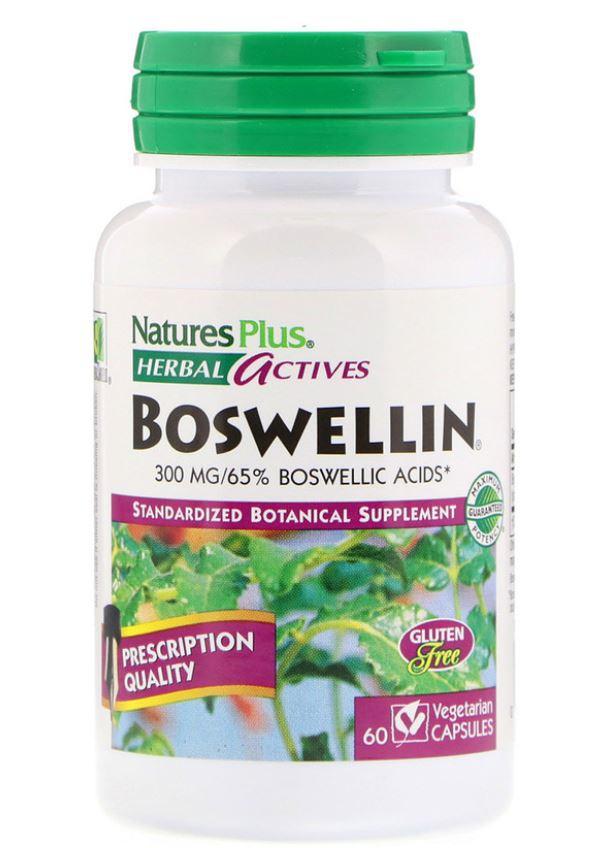 Image of Herbal Actives - Boswellin 300 mg (60 Vegetarian Capsules) - Nature's Plus 0097467071247
