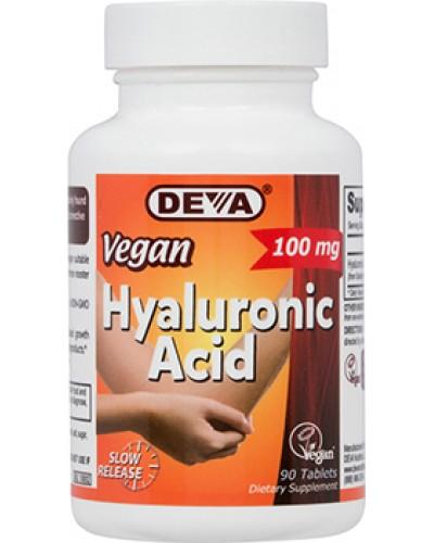 Image of Vegan Hyaluronic Acid 100 mg (90 Tablets) - Deva 0895634000454