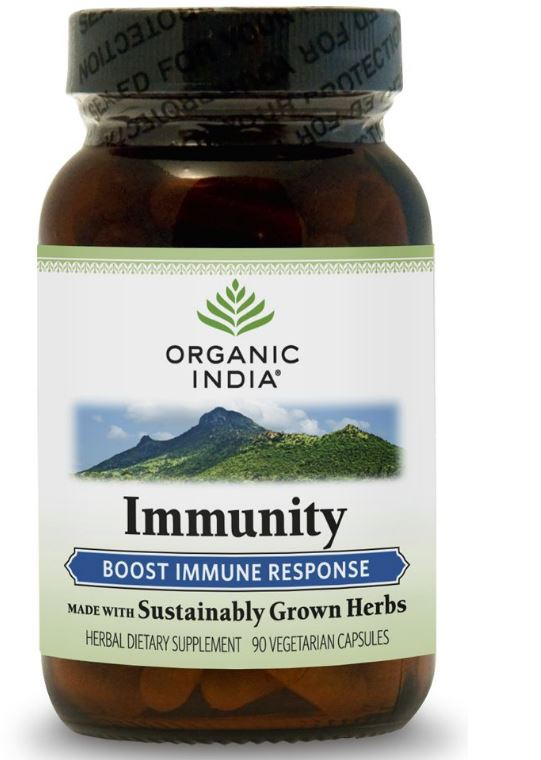 Image of Formula di immunità (90 Veggie Caps) - Organic India 0851469000939