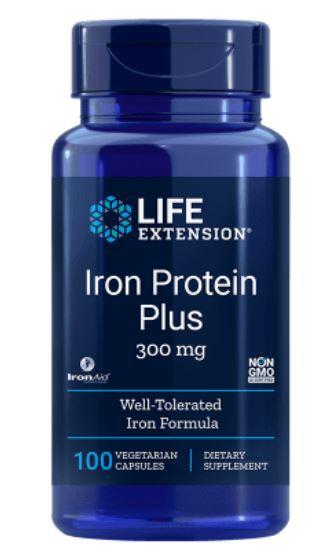 Image of Proteine Ferro Plus 300 Mg - 100 Capsule - Life Extension 0737870167716