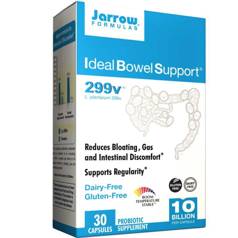 Image of Jarrow Formulas, Ideal Bowel Support, 299v, 30 Veggie Caps 0790011030287