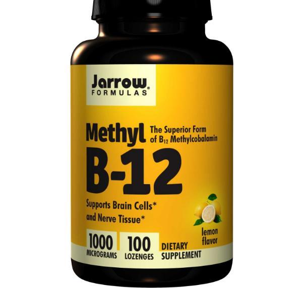 Image of Jarrow Formulas, Methyl B-12, Lemon Flavor, 1000 mcg, 100 Lozenges 0790011180012