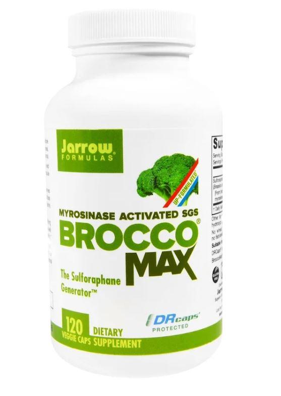 Image of BroccoMax Myrosinase Activated SGS (120 Veggie Caps) - Jarrow Formulas 0790011202110