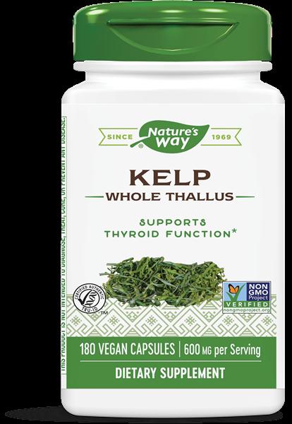 Image of Nature's Way, Kelp 600 mg, 180 capsule 0033674145081