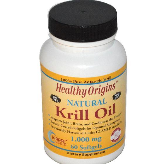Image of Healthy Origins,Olio di krill, aroma naturale di vaniglia, 1000 mg, 60 Softgels 603573814533
