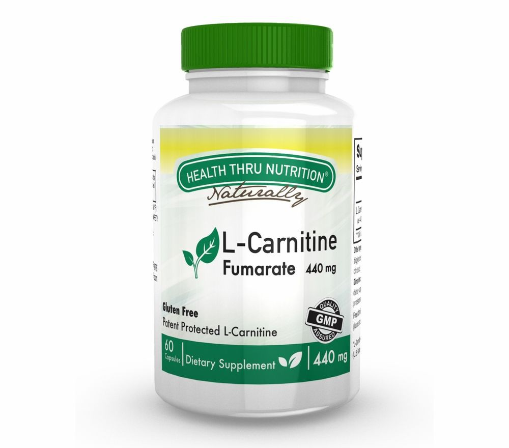 Image of L-Carnitine 440 mg (60 Capsules) - Health Thru Nutrition 0819193020357