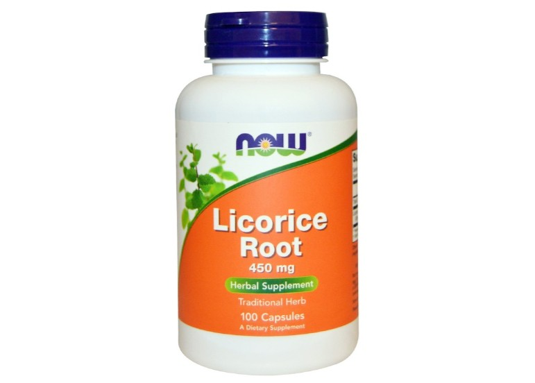 Image of Licorice Root 450 mg (100 Capsules) - Now Foods 0733739047182