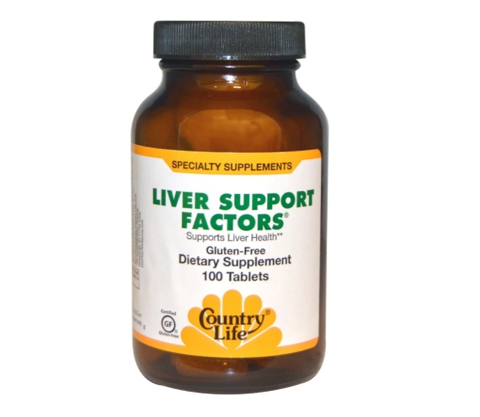Image of Liver Support Factors (100 Vegan Capsules) - Country Life 0015794016120