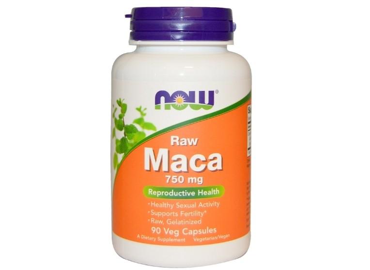 Image of Maca Raw 750 mg (90 Veggie Caps) - Now Foods 0733739047779