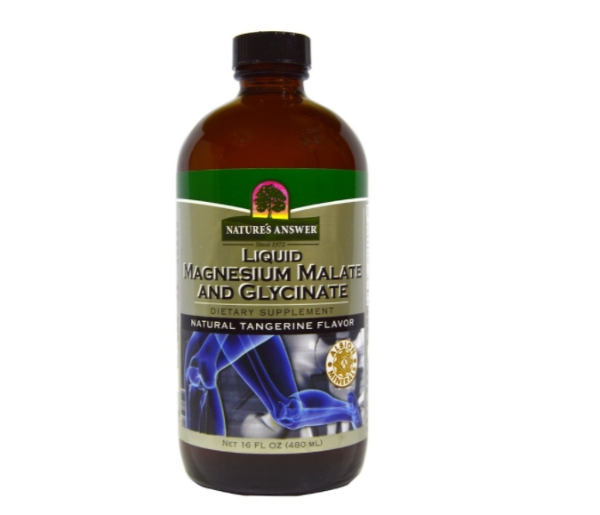 Image of Liquid Magnesium Malate and Glycinate, Natural Tangerine Flavor (480 ml) - Nature's Answer 0083000261732