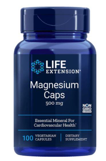 Image of Life Extension, Magnesio Caps 500 mg, 100 Veggie Caps 0737870145912