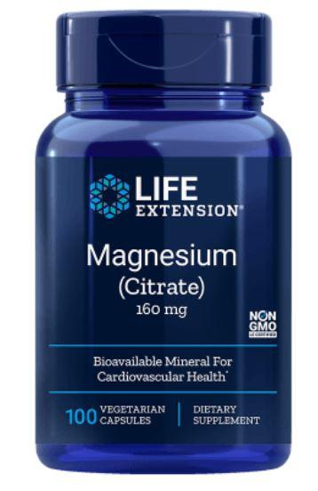 Life Extension, Magnesio (citrato), 160 mg, 100 Veggie Caps