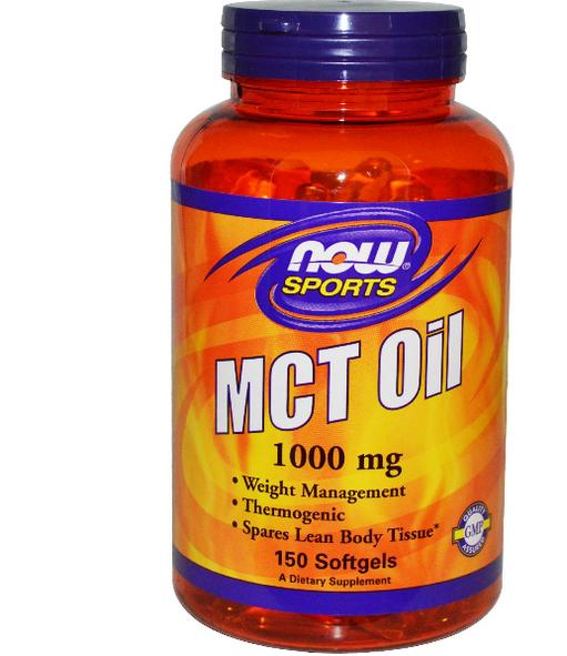 Image of Now Foods Sports, olio MCT, 1000mg, 150 Softgels 0733739021960