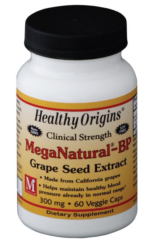 Image of Healthy Origins, Estratto di semi d'uva MegaNatural-BP, 300 mg, 60 capsule 603573579142