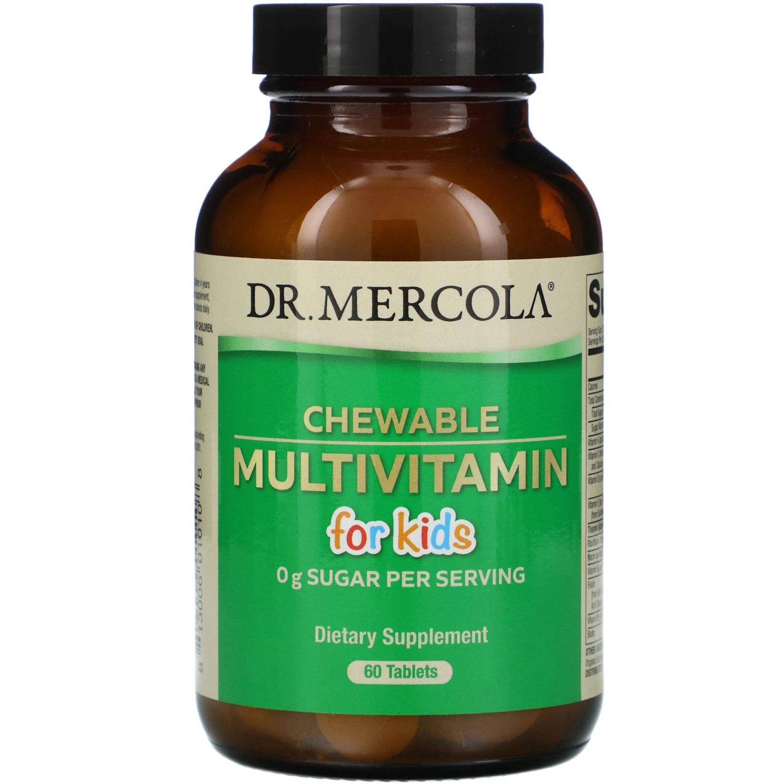 Image of Children's Multivitamin Fruit Flavored Chewables (60 Tablets) - Dr. Mercola 0813006010108