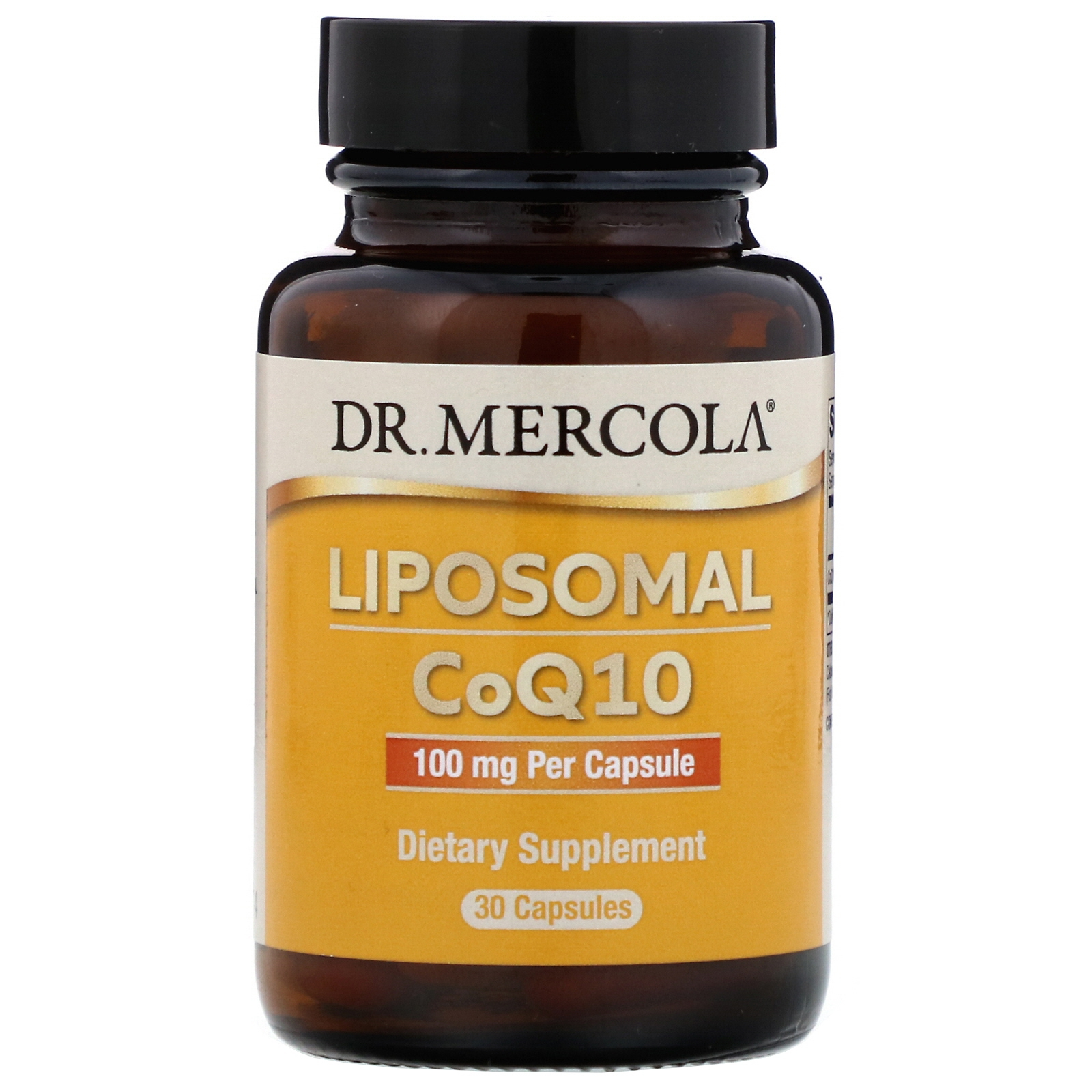 Image of CoQ10 100 mg (30 Licaps Capsules) - Dr. Mercola 0813006014984