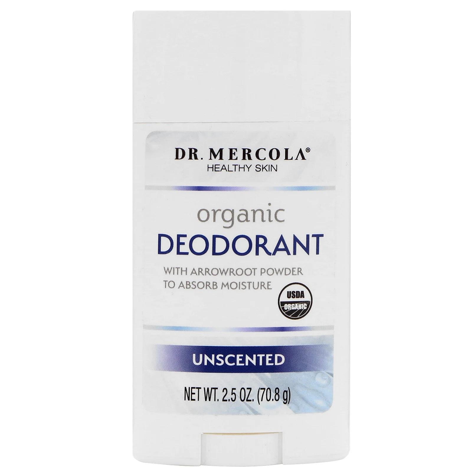 Image of Organic Deodorant Unscented (70 gram) - Dr. Mercola 0813006016117