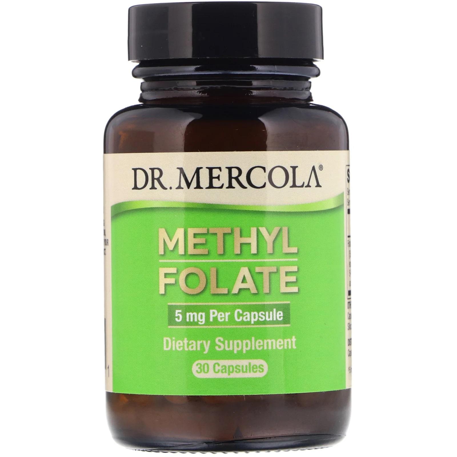 Image of Folate 5 mg 30 Capsules - Dr. Mercola 0810487030861