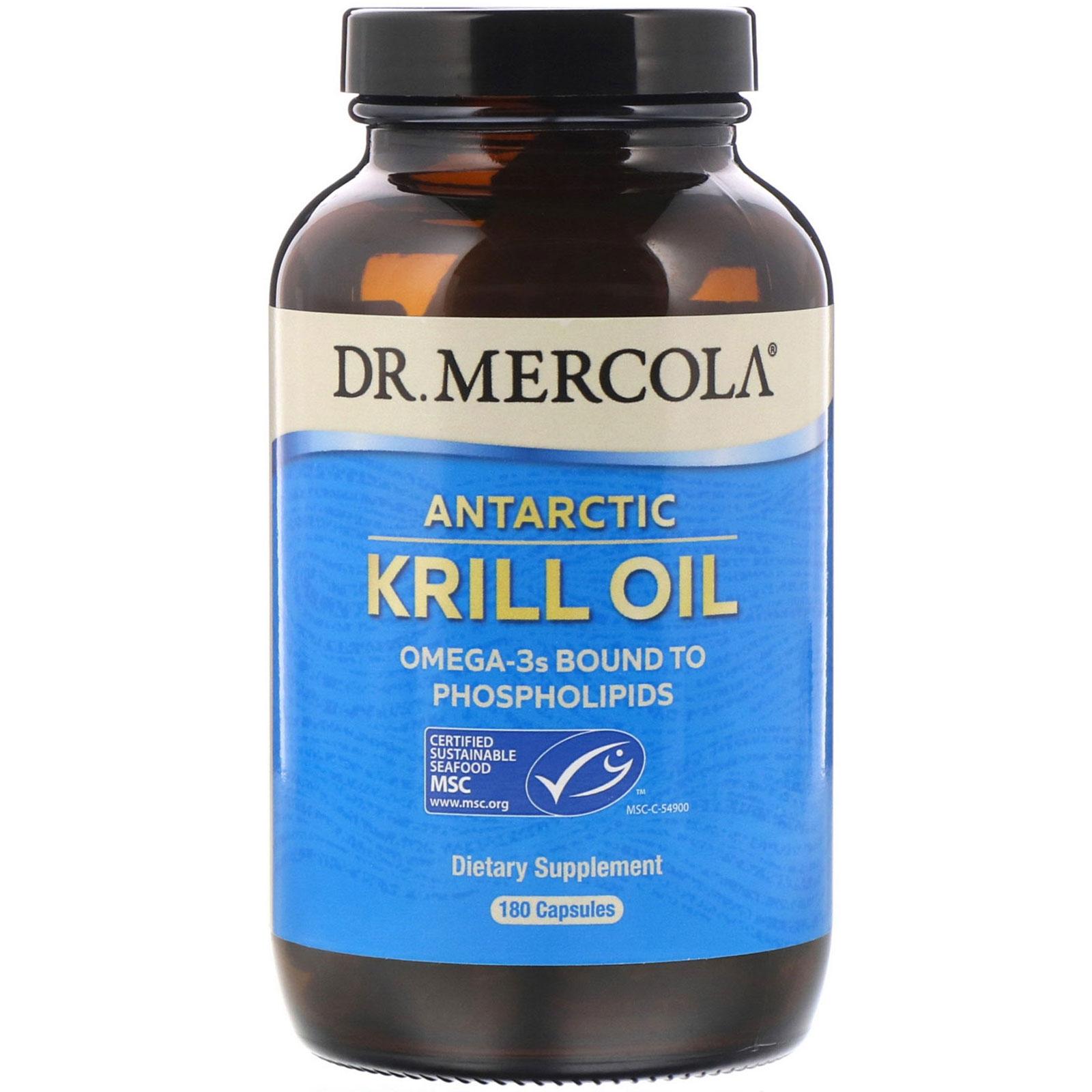 Image of Dr. Mercola, Premium Supplements, Antarctic Krill Oil, 180 Capsules 0813006010276