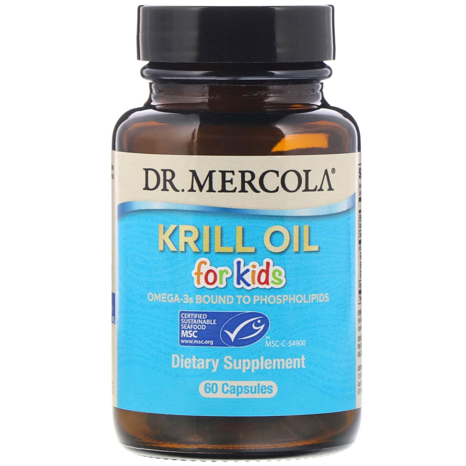 Image of Dr. Mercola, Kids' Krill Oil, 60 Licaps Capsules 0813006011495