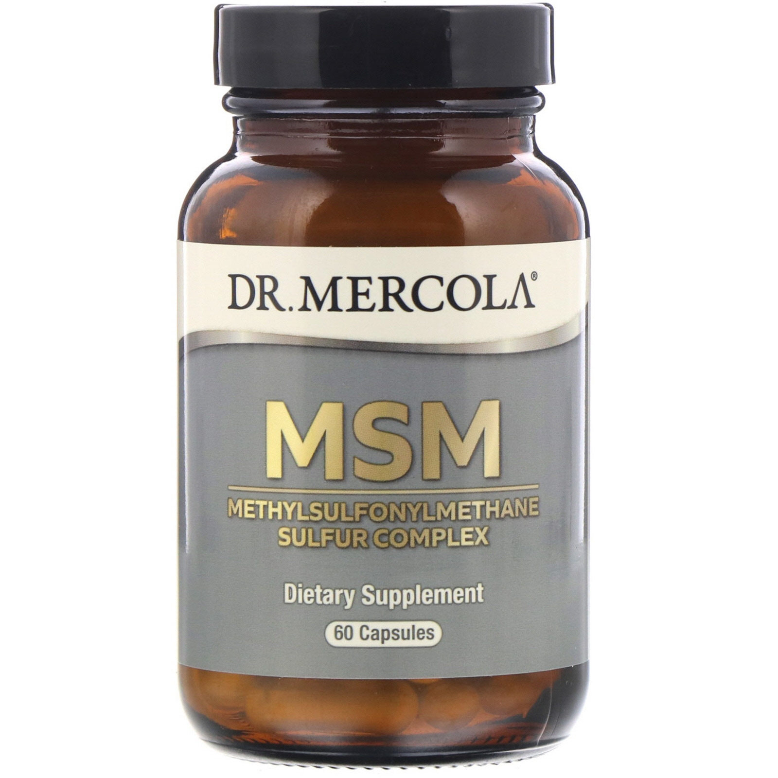 Image of MSM with Organic Sulfur Complex (60 Capsules) - Dr. Mercola 0813006015004
