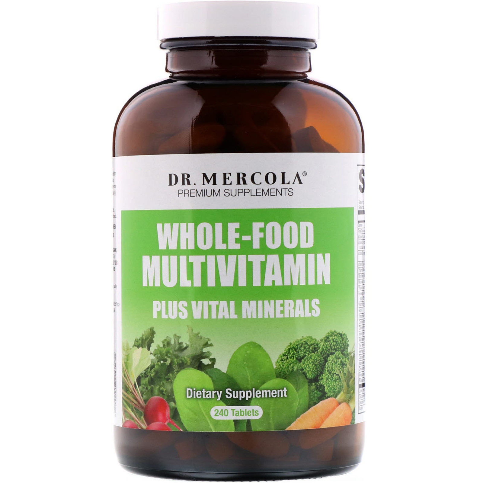 Dr. Mercola, tutto cibo multivitaminico Plus, 240 compresse