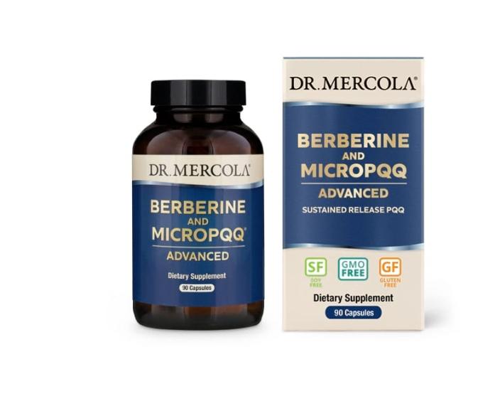 Image of Berberine & MicroPQQ Advanced (90 capsules) - Dr Mercola 0813006019972