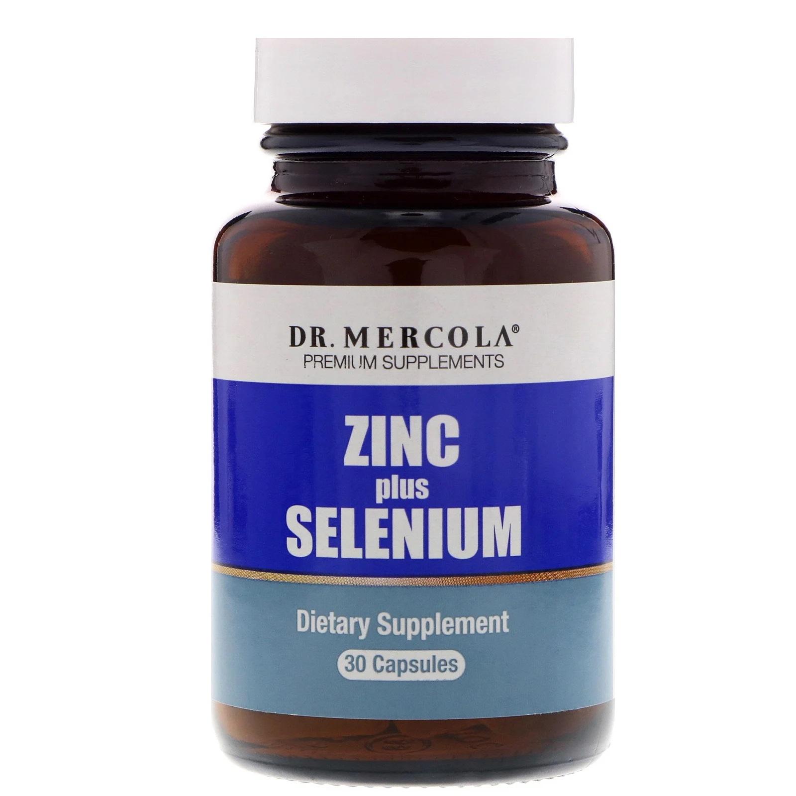 Image of Zinc plus Selenium 15 mg (30 capsules) - Dr. Mercola 0810487030656