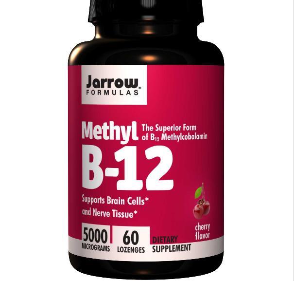 Image of Jarrow Formulas, metil B-12, sapore di ciliegia, 5000 mcg, 60 pastiglie 0790011180043