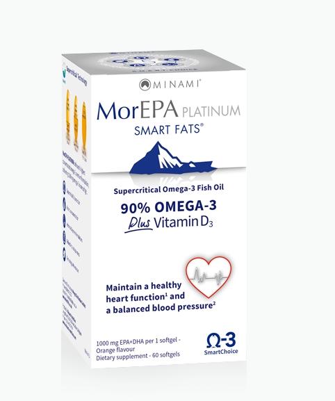 Image of MorEPA Platinum (60 Capsules) - Minami 8713975500148