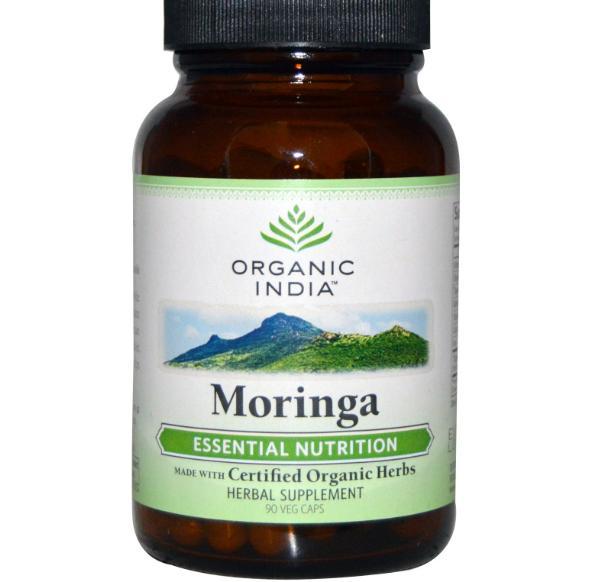 Image of Moringa (90 Veggie Caps) - Organic India 0801541508174