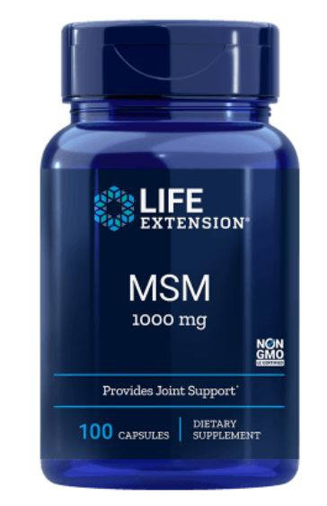 Image of Life Extension, MSM 1000 mg, 100 capsule 0737870451105